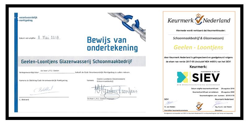 certificatengeelen